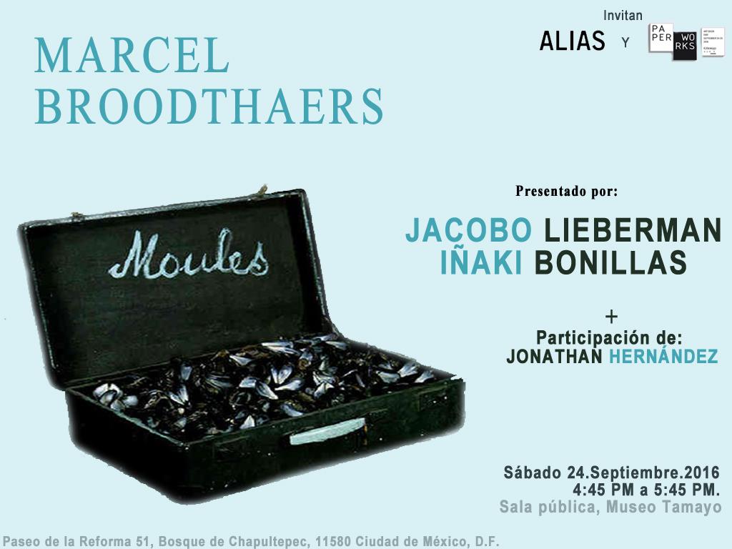 Presentación del libro: Marcel Broodthaers