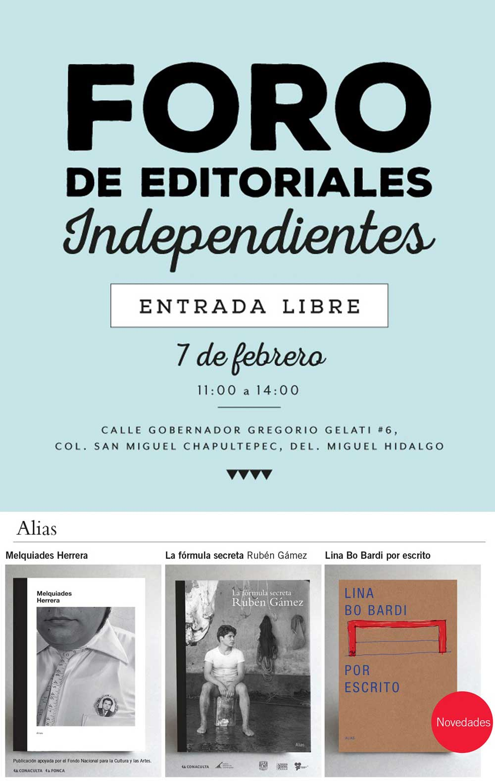 Alias en el Foro de Editoriales Independientes