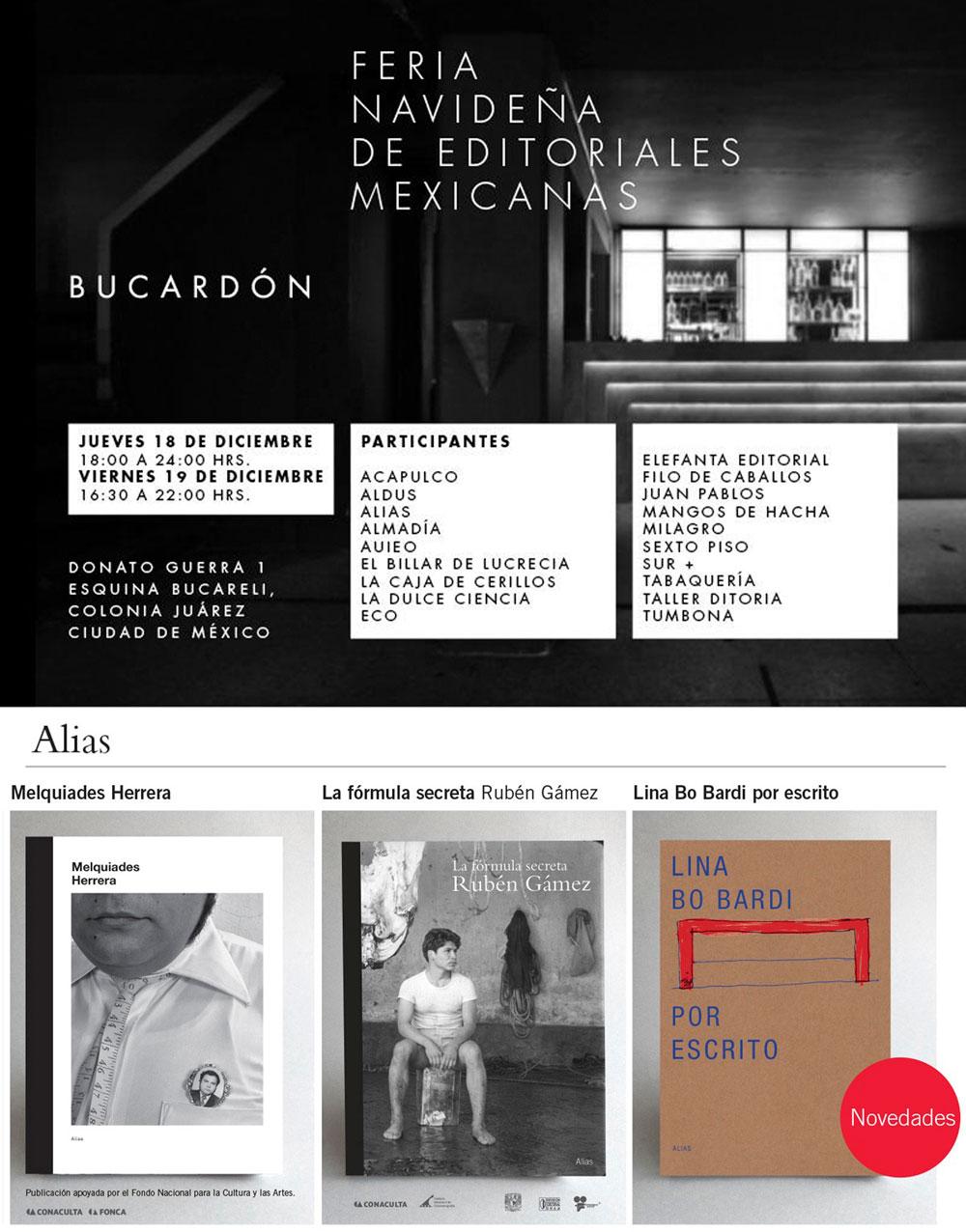 Alias en la Feria Navideña de Editoriales Mexicanas