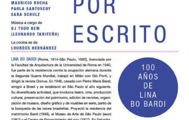 Presentación del libro Lina Bo Bardi por escrito en el Museo Experimental el Eco