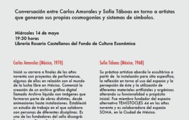 Creadores de cosmogonías, una conversación entre Sofía Táboas y Carlos Amorales en la V Feria del Libro Independiente
