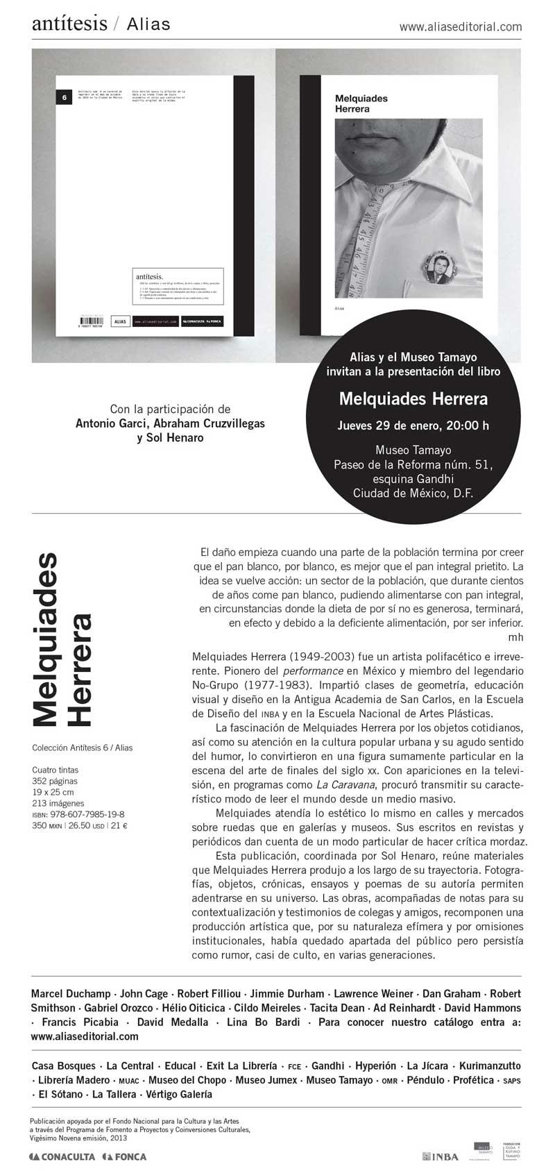 """Presentación del libro """"Melquiades Herrera"""""""