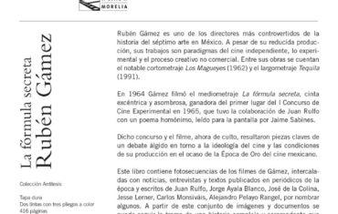 """Presentación del libro """"La fórmula secreta. Rubén Gámez"""""""