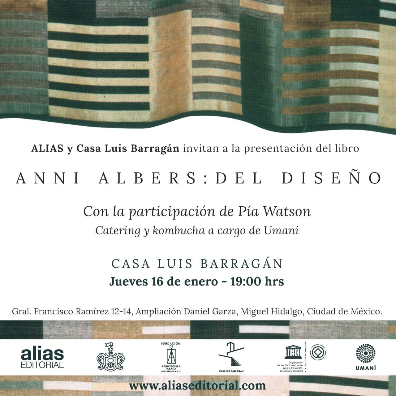 Presentación Anni Albers: Del diseño
